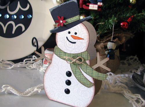 Snowman Treat box  DeeDee Campbell - Snowman Treat box