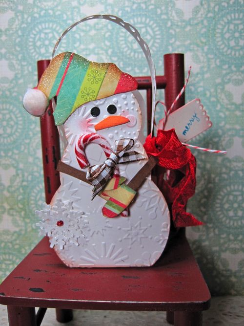 Merry  Lori Hairston - Snowman Treat box