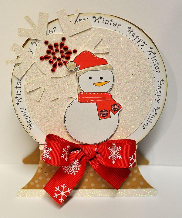 the cutting cafe u0026 39   snow globe shaped card    template