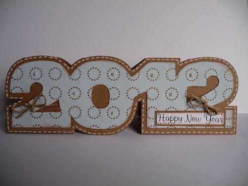 2012  Jeri Thomas - 2012 shaped card