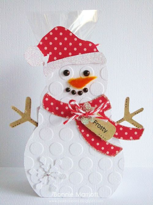 FROSTY  Bonnie Marriott - Snowman treat box & Christmas mini words