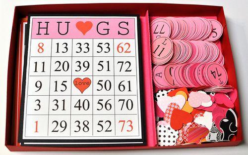 The Cutting Cafe BINGO CARD – Free Printable Valentines Day Bingo Cards