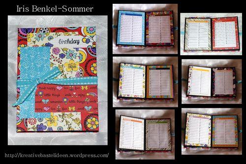 Birthday  Iris Benkel - Sommer - Mini Colored Calendar Sheets