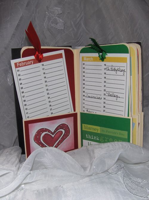 Birthday book  Lori Warner - Mini colored calendar cards