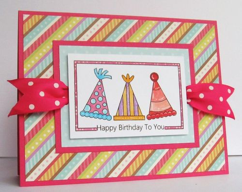 Happy Birthday To You  Paula Riley - Fun with Party Hats
