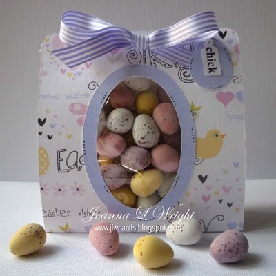 Easter mini words and Oval - Egg goody bag holder