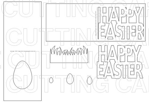 The Cutting Cafe': Easter Window Cards Templates - Cutting Files