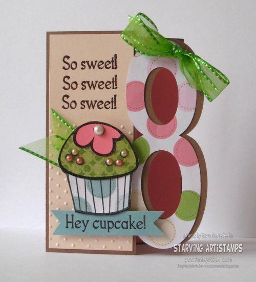 Hey cupcake - Dawn Mercedes - 8 shaped card set