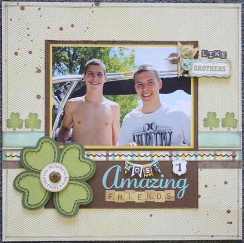 So Lucky - Carolyn Wolff - 4 leaf clover shaped card