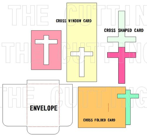 CROSS SHAPED CARD SET