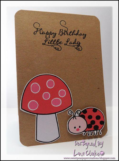Happy Birthday Little Lady  Lana Clarke - Cute Critters
