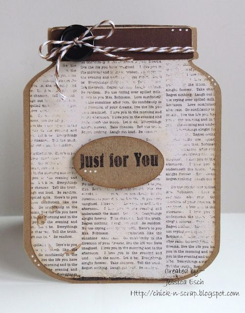 Just for you  Jessica Esch - Jar shaped card set
