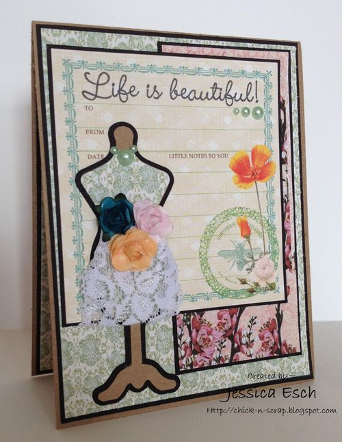 Life is beautiful  Jessica Esch - fun with dress forms