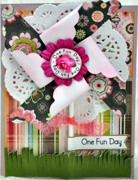 One fun Day  Leslie Foley - Pinwheel sentiment set