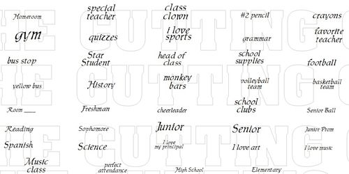 SCHOOL MINI WORDS 1