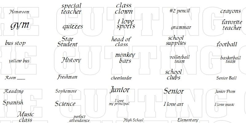 SCHOOL MINI WORDS 1