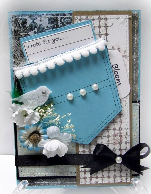 A note for you  Jovita Torres - Pocket shaped card