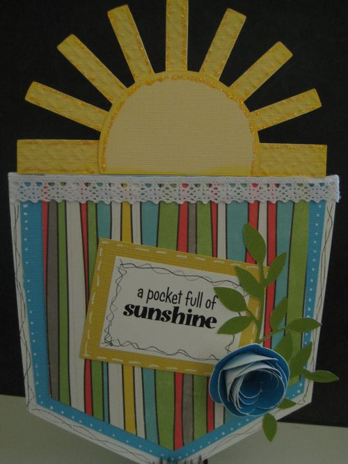 A pocket full of sunshine  Lezlye Lauterbach - Pocket shaped card