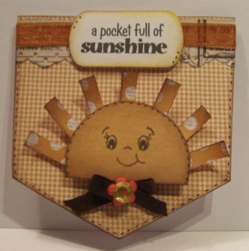 A pocket full of sunshine Rhonda Zmikly - Pocket shaped card