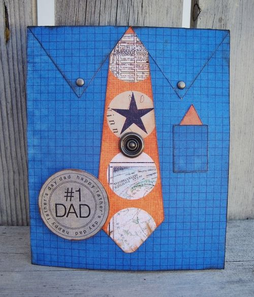#1 DAD Debbie Fisher - Shirt and Tie shaped card