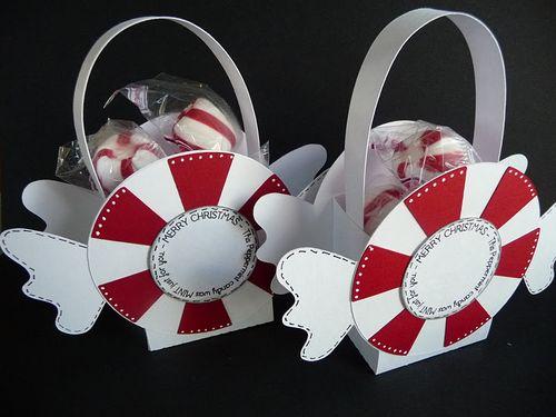 Merry christmas  Jeri Thomas - Peppermint Candy treat box