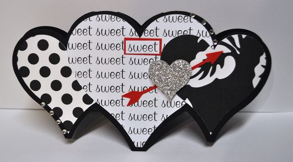The cutting cafe heart shaped card set 2templates cutting files m4hsunfo