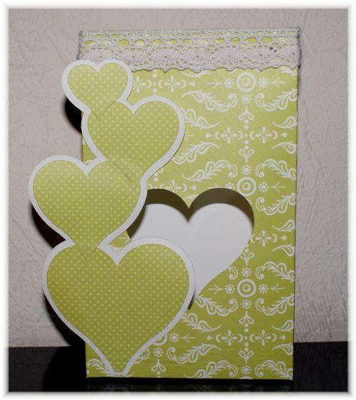 Heart bag  Iris  Heart bag and Heart shaped card 2