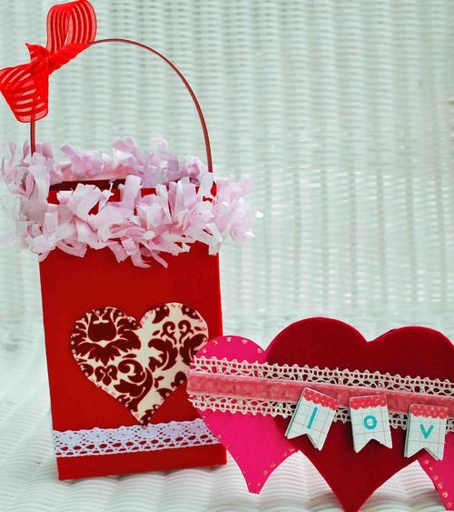 Love  Amber Goble - Heart Bag and Heart shaped card 2
