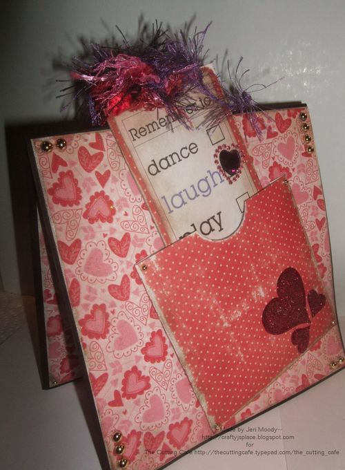 Laugh  Jeri Thomas - Heart pocket and Long sentiment tag