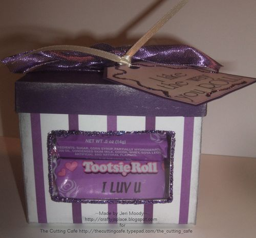 TOOTSIE  Jeri Moody - Tootsie Roll candy sentiiment set and Square front window box