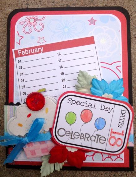 Special Day  Leah  Color Mini Calendar Sheets