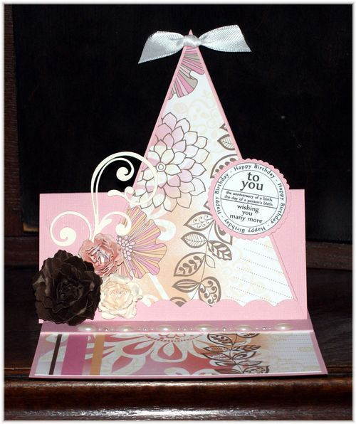 Happy Birthday  Iris - Party hat shaped card and birthday tags