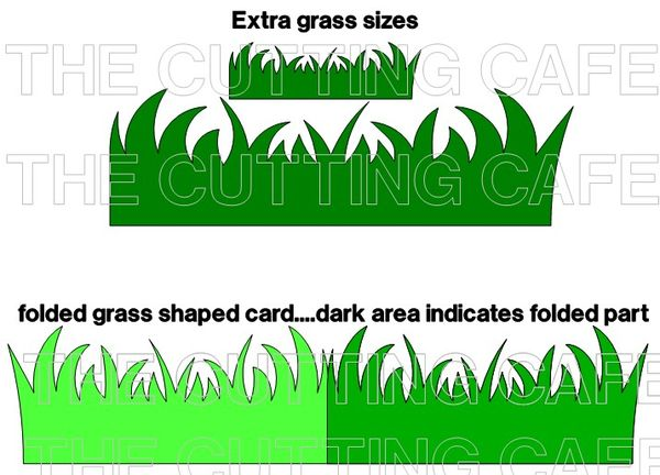 Grass and flowers background border | free printable papercraft.