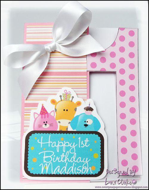 1 birthday card  Lana Clarke - 1 shaped card