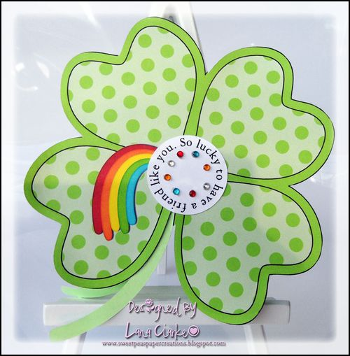 So lucky to have a friend like you  Lana Clarke - 4 leaf clover shaped card