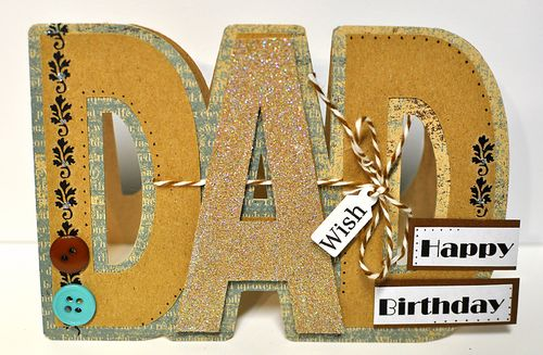The Cutting Cafe DAD SHAPED CARD