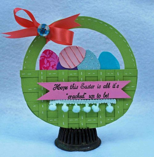 Hope this Easter  Amber Goble - Easter basket shaped card