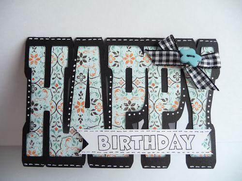 Happy Birthday  Jeri Thomas - Happy shaped card and Birthday fun