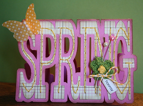 Spring  Carolyn Wolff - Spring word shaped card and Everyday mini words