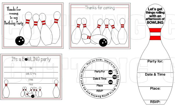 the cutting cafe it s bowling time template printable stamp set