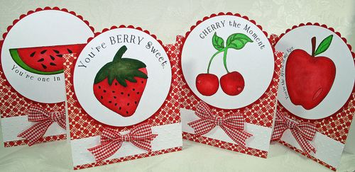 Fruit stamp cards