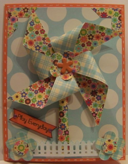 Play everyday  Rhonda Zmikly - Pinwheel sentiment set