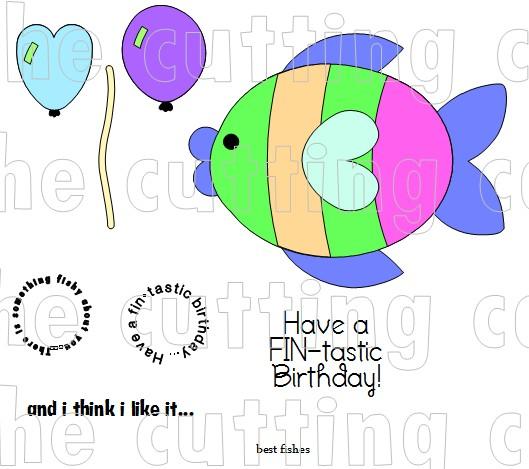 FISH SHAPED CARD