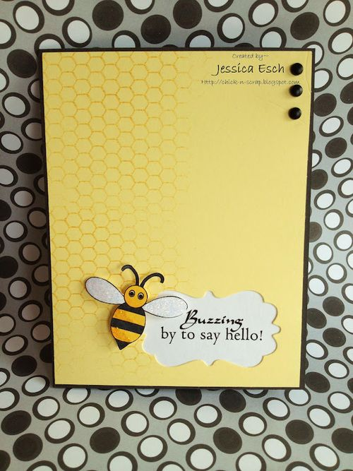 BUZZING  Jessica Esch - Beehive shaped card