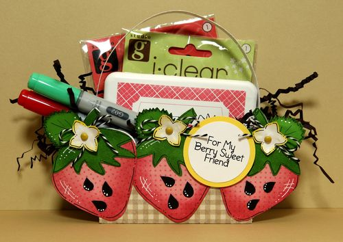 For My Berry Sweet Friend  Karen Howard - Strawberry treat box