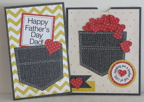 Happy Father's Day Dad  Kerys Sharrock - Pocket shaped card set