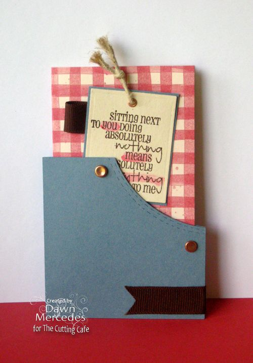 Sitting next to you  Dawn Mercedes  - Pocket shaped card