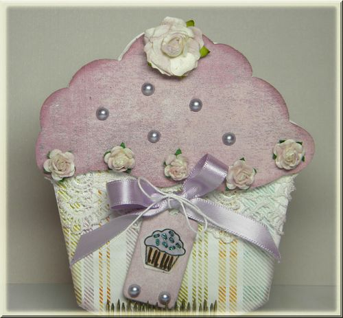 Cupcake  Kimberly Morrow - Sweet stuff shaped card set