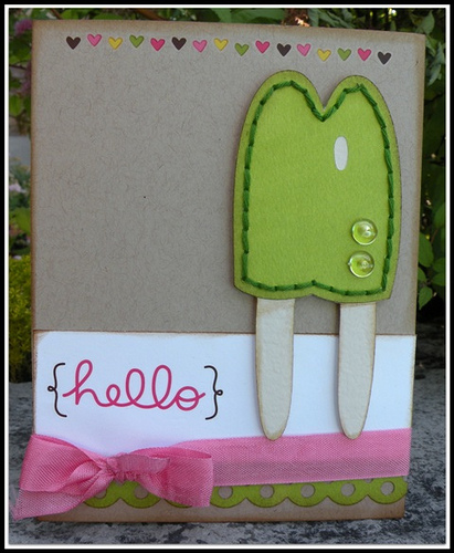 Hello  Carolyn Wolff - Sweet stuff shaped card set