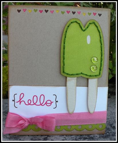Hello  Carolyn Wolff - Sweet stuff shaped card set